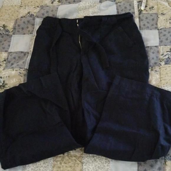 GAP Pants - Gap Wide Leg Linen Pants 8 Short